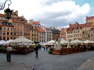 Old Warsaw town square Poland