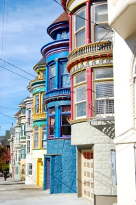 Victorian houses Haight Ashbury San Francisco California