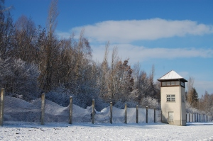 Dachau concentration camp guard tower Germany