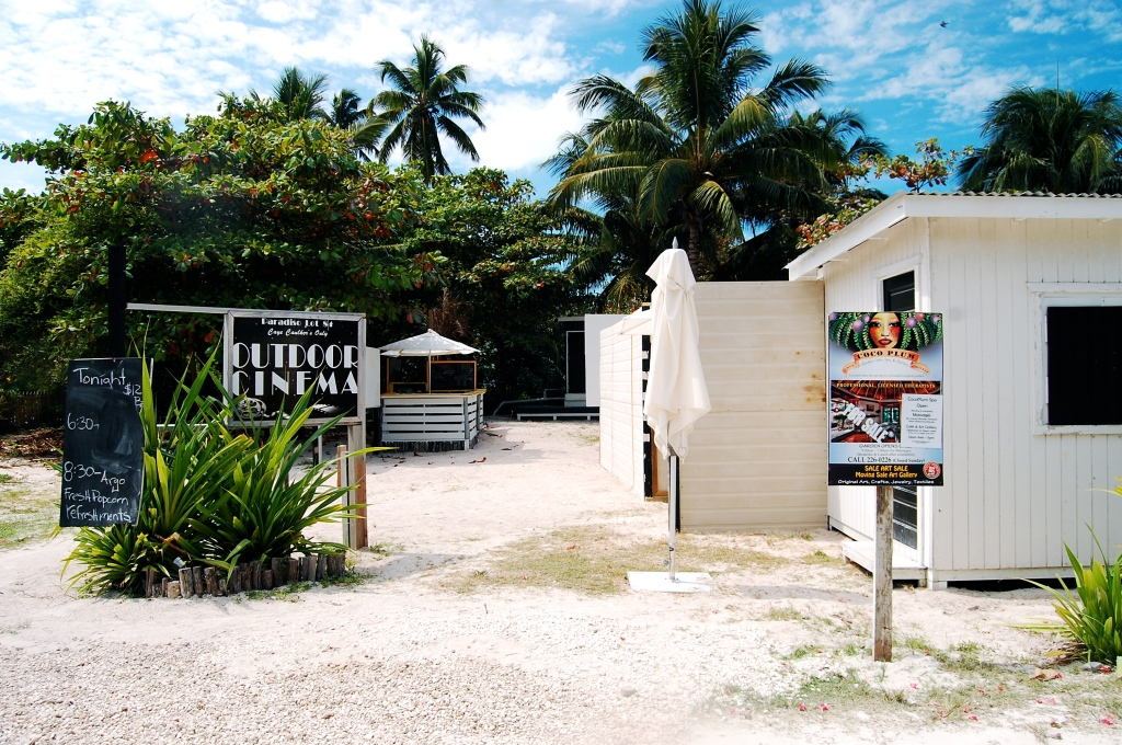 Caye Caulker's movie theater