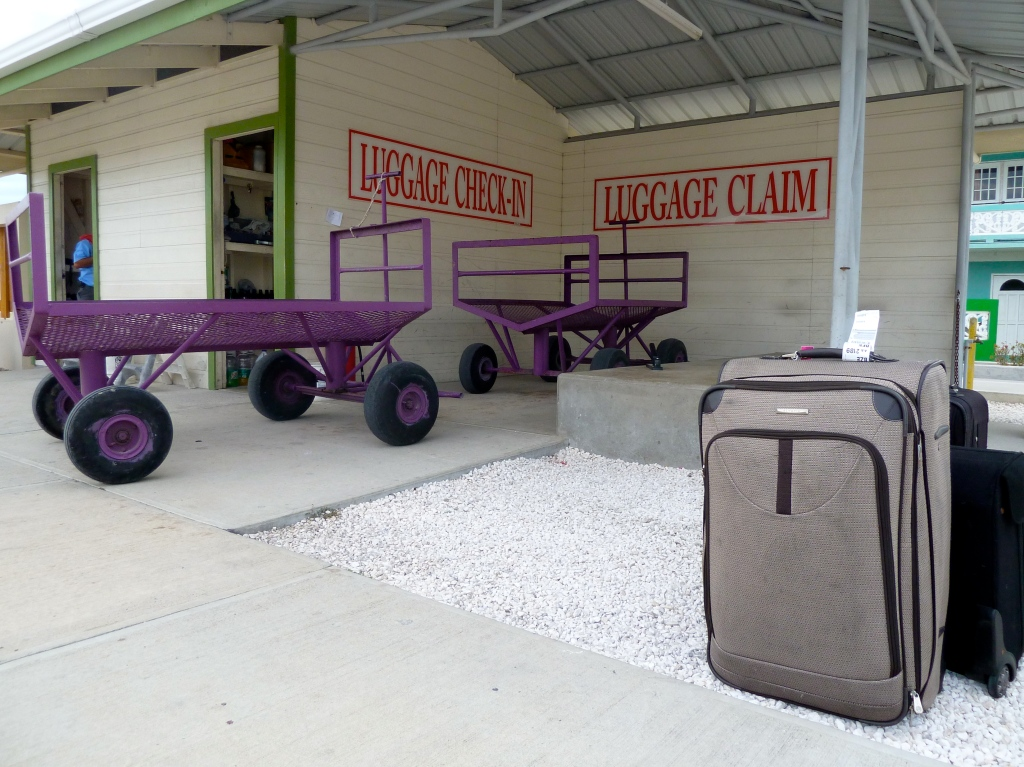 Baggage claim at San Pedro Municipal Airport